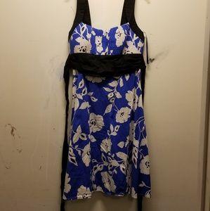 Blue&White Flower Dress